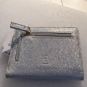 "Mundi Bags - Wallet sparkly silver 4 1/2"" X 3 1/2"" NWT"